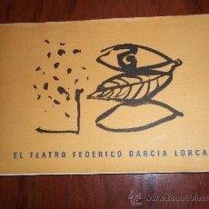 Libros de segunda mano: EL TEATRO FEDERICO GARCÍA LORCA. OBRA SOBRE PAPEL DE FREDERIC AMAT. DIPUTACIÓN GRANADA. Lote 55240345
