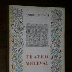 Libros de segunda mano: TEATRO MEDIEVAL POR FERNANDO LÁZARO CARRETER DE ED. CASTALIA EN MADRID 1965 2ª EDICIÓN. Lote 221633747