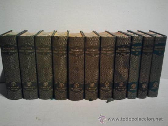 JACINTO BENAVENTE, OBRAS COMPLETAS. 11 TOMOS, 1945-1958. M. AGUILAR EDITOR. (Libros de Segunda Mano (posteriores a 1936) - Literatura - Teatro)