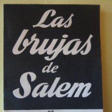 Libros de segunda mano: LAS BRUJAS DE SALEM- ARTHUR MILLER- ALFIL.COLECCION TEATRO Nº 276. Lote 34088727