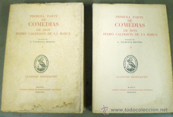 COMEDIAS DE DON PEDRO CALDERÓN DE LA BARCA 2 VOLS. - 1974 - 1981 - SIN USAR JAMÁS. (Libros de Segunda Mano (posteriores a 1936) - Literatura - Teatro)
