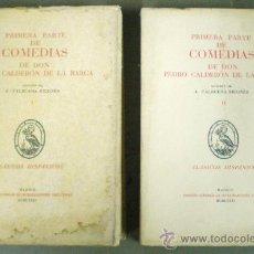 Libros de segunda mano: COMEDIAS DE DON PEDRO CALDERÓN DE LA BARCA 2 VOLS. - 1974 - 1981 - SIN USAR JAMÁS.. Lote 34263402