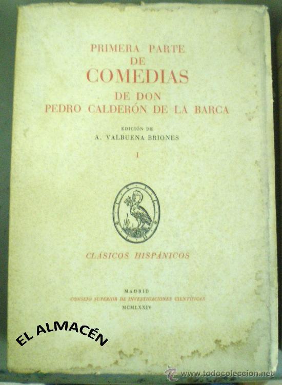 Libros de segunda mano: COMEDIAS DE DON PEDRO CALDERÓN DE LA BARCA 2 VOLS. - 1974 - 1981 - SIN USAR JAMÁS. - Foto 2 - 34263402