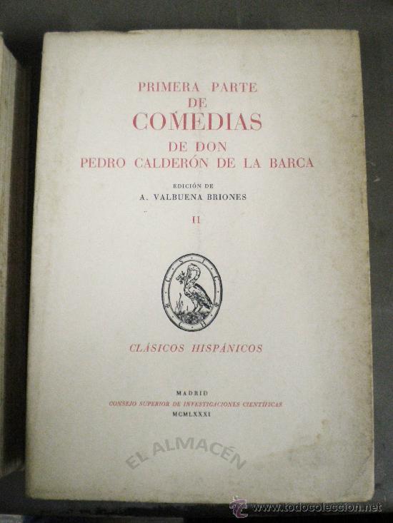 Libros de segunda mano: COMEDIAS DE DON PEDRO CALDERÓN DE LA BARCA 2 VOLS. - 1974 - 1981 - SIN USAR JAMÁS. - Foto 3 - 34263402