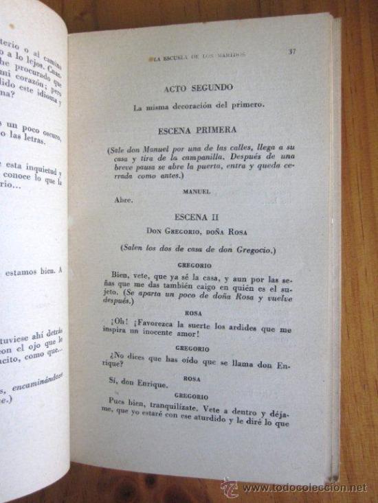 Libros de segunda mano: Molière: La escuela de los maridos. El Hipócrita, Ed. Atlas, 1944 - Foto 3 - 34951602