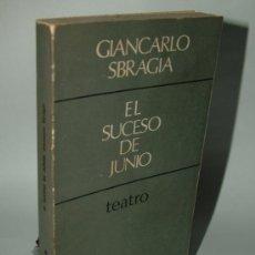 Libros de segunda mano: EL SUCESO DE JUNIO.SBRAGIA,GIANCARLO, CUADERNOS PARA EL DIÁLOGO. Lote 34965386