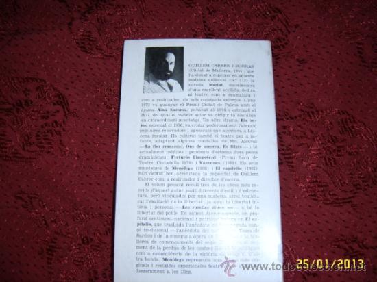 Libros de segunda mano: TEATRE.LES ROSELLES DIUEN NO.EL CAPITEL·LO.MONÒLEGS. GUILLEM CABRER.DEDICATORIA DEL AUTOR. - Foto 5 - 36435326