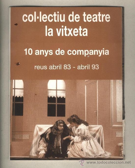 Libros de segunda mano: Programa de ma encunyat Col·lectiu de teatre la vitxeta Reus 1993 Teatre Bartrina - Foto 2 - 38459134