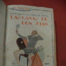 Libros de segunda mano: EL TEATRO, REVISTA SEMANAL Nº 10. AÑO I. LAS CAÑAS DE JUAN. JUAN IGNACIO Y LUCA DE TENA.. Lote 39602969