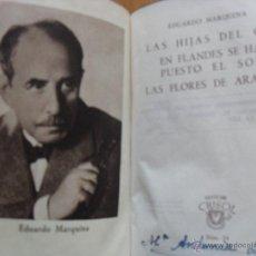 Libros de segunda mano: LAS TRES COMEDIAS, EDUARDO MARQUINA, CRISOL AGUILAR 1943. Lote 39789309