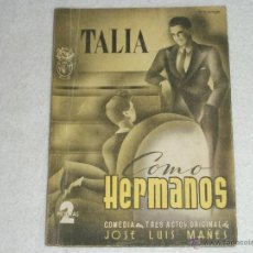 Libros de segunda mano: COMO HERMANOS. Lote 39859661