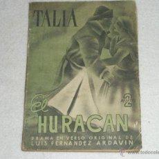 Libros de segunda mano: EL HURACAN. Lote 39860572