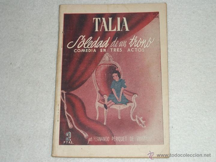 SOLEDAD DE UN TRONO. (Libros de Segunda Mano (posteriores a 1936) - Literatura - Teatro)