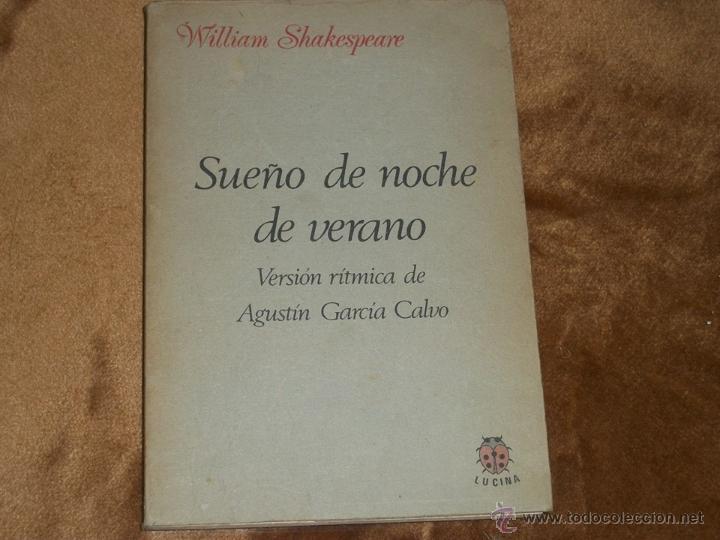 SUEÑO DE UNA NOCHE DE VERANO. (Libros de Segunda Mano (posteriores a 1936) - Literatura - Teatro)