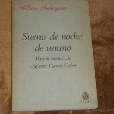 Libros de segunda mano: SUEÑO DE UNA NOCHE DE VERANO.. Lote 39905463