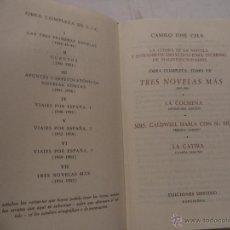 Libros de segunda mano: LA OBRA COMPLETA DE CAMILO JOSÉ CELA.TOMO VII. TRS NOVELAS MÁS (1951- 1955).. Lote 40172401