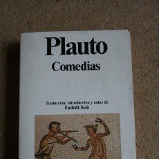 Libros de segunda mano: COMEDIAS. PLAUTO. PLANETA. 1992.. Lote 40572093