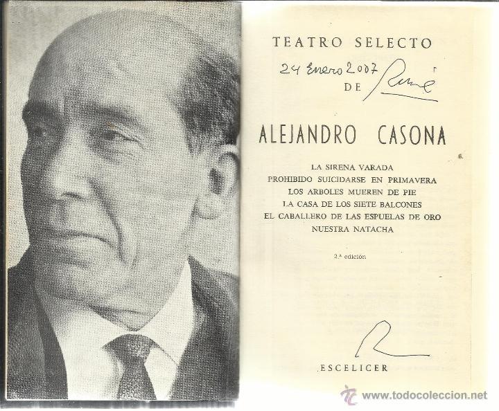 TEATRO SELECTO. ALEJANDRO CASONA. ESCELICER. MADRID. 1972 (Libros de Segunda Mano (posteriores a 1936) - Literatura - Teatro)
