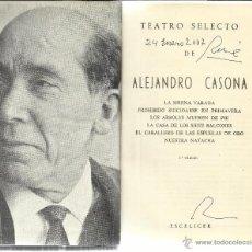 Libros de segunda mano: TEATRO SELECTO. ALEJANDRO CASONA. ESCELICER. MADRID. 1972. Lote 61427705