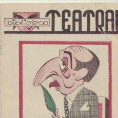 Libros de segunda mano: BIBLIOTECA TEATRAL Nº 9. GENTE DE BULLA POR JOSÉ TELLAECHE. AÑO 1941.. Lote 41120855