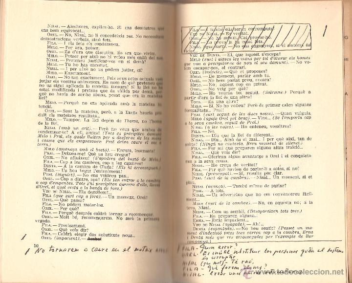 Libros de segunda mano: SITUACIÓ BIS. MANUEL DE PEDROLO. PERTENECIÓ A GONZALO MEDINA-CRÍTICO LITERARIO-CONTIENE CORRECCIONES - Foto 4 - 41131965