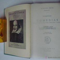 Libros de segunda mano: SHAKESPEARE. COMEDIAS.ESTUDIO DE E. MARTINEZ ESTRADA. ED. EXITO 1962. 1A EDICIÓN.. Lote 41262407