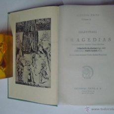 Libros de segunda mano: SHAKESPEARE. TRAGEDIAS. ESTUDIO DE A. PAGÉS LARRAYA. ED. EXITO 1962. 1A EDICIÓN. Lote 41262544