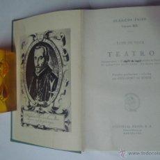 Libros de segunda mano: LOPE DE VEGA. TEATRO. ESTUDIO DE GUILLERMO DE TORRE.ED. EXITO 1962. 1A EDICIÓN.. Lote 41262805