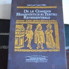 Libros de segunda mano: DE LA COMEDIA HUMANÍSTICA AL TEATRO REPRESENTABLE.. Lote 117758367