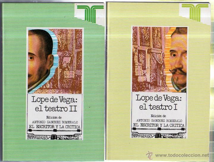 LOPE DE VEGA: EL TEATRO. 2 TOMOS. EDICIONES TAURUS. MADRID. 1989. (Libros de Segunda Mano (posteriores a 1936) - Literatura - Teatro)