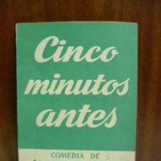 Libros de segunda mano: CINCO MINUTOS ANTES, ALDO DE BENEDETTI.COLECCION TEATRO 9.EDICIONES ALFIL 1952. Lote 43956886