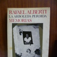 Libros de segunda mano: RAFAEL ALBERTI, LA ARBOLEDA PERDIDA, MEMORIA, SEIX BARRAL. Nº 380, PRIMERA ED. 1959. Lote 42888537