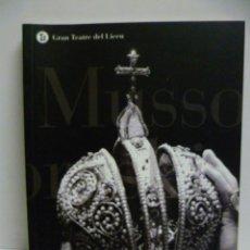 Libros de segunda mano: BORIS GODUNOV- GRAN TEATRE DEL LICEU 2004 - 2005. Lote 42911601