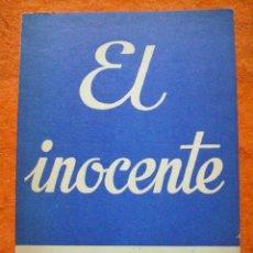 Libros de segunda mano: EL INOCENTE, DE JOAQUÍN CALVO-SOTELO. COLECCIÓN TEATRO Nº 635. ESCELICER, 1969.. Lote 43294782