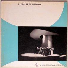 Libros de segunda mano: EL TEATRO EN ALEMANIA 1956 - BRAUN, HANNS. Lote 43580442