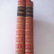 Libros de segunda mano: COMEDIAS - DOS TOMOS - WILLIAM SHAKESPEARE - OBRAS MAESTRAS - BARCELONA - GRAFICAS S AGARO - 1959 -. Lote 45322204
