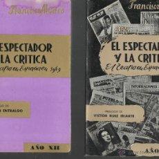 Libros de segunda mano: OPORTUNIDAD LOTE DE 5 LIBROS EL ESPECTADOR Y LA CRÍTICA EL TEATRO EN ESPAÑA AÑOS 1966/69/71/72/85. Lote 45932307