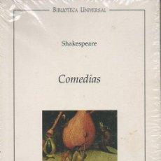 Libros de segunda mano: COMEDIAS. SHAKESPEARE. OCEANO, 1999. BIBLIOTECA UNIVERSAL (NUEVO). Lote 46119050