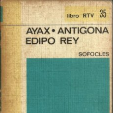 Libros de segunda mano: AYAX - ANTIGONA EDIPO REY - SOFOCLES - Nº 35 - BIBLIOTECA BASICA SALVAT LIBRO RTV - 1969. Lote 48437526