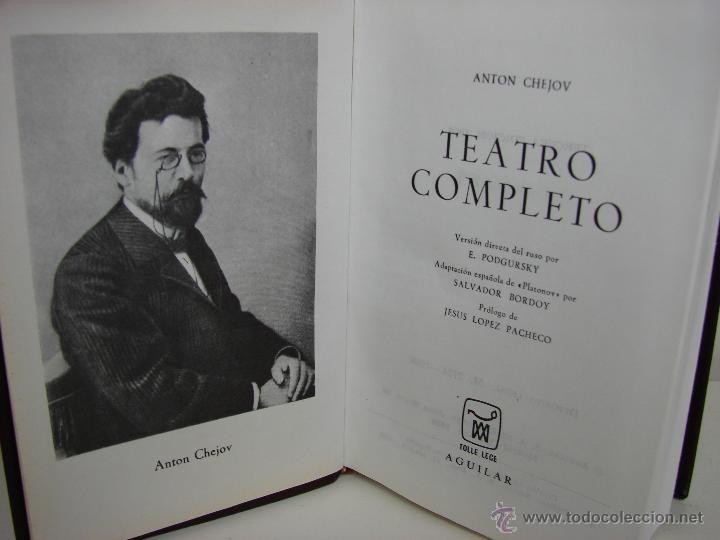 Libros de segunda mano: ANTON CHEJOW. TEATRO COMPLETO. AGUILAR - Foto 2 - 48483050