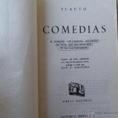 Libros de segunda mano - Comedias. Plauto. - 48687656