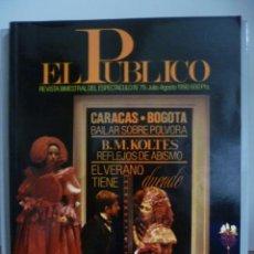 Libros de segunda mano: REVISTA EL PÚBLICO TEATRO Nº 79 . Lote 49591930