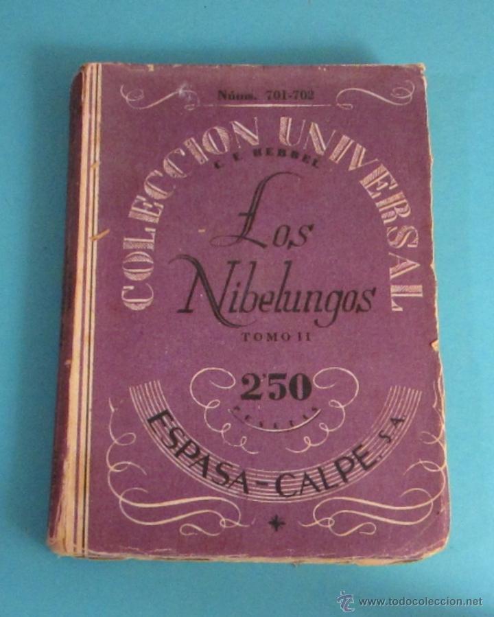 LOS NIBELUNGOS. TOMO II. C.F. HEBBEL (Libros de Segunda Mano (posteriores a 1936) - Literatura - Teatro)