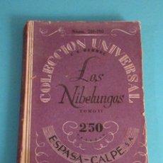 Libros de segunda mano: LOS NIBELUNGOS. TOMO II. C.F. HEBBEL. Lote 49859795