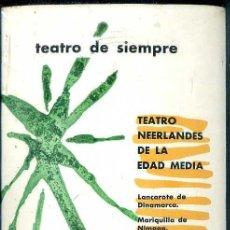 Libros de segunda mano: TEATRO NEERLANDÉS DE LA EDAD MEDIA (AGUILAR) AÚN PRECINTADO. Lote 50531421
