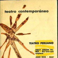Libros de segunda mano: TEATRO PERUANO CONTEMPORÁNEO (AGUILAR, 1963) . Lote 50531790