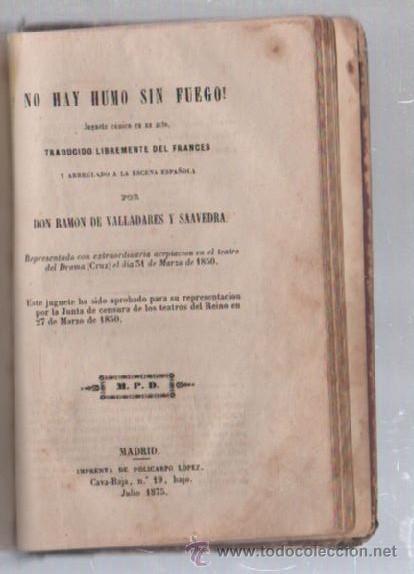 Libros de segunda mano: COMEDIAS. VARIAS OBRAS DE VARIOS AUTORES RECOGIDAS EN ESTE TOMO. IMP. JOSE RODRIGUEZ, MADRID. LEER - Foto 2 - 50930001
