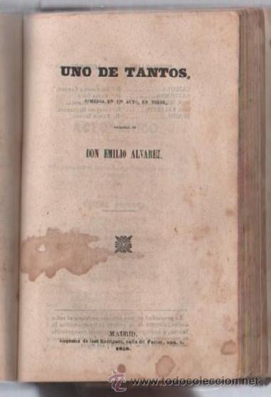 Libros de segunda mano: COMEDIAS. VARIAS OBRAS DE VARIOS AUTORES RECOGIDAS EN ESTE TOMO. IMP. JOSE RODRIGUEZ, MADRID. LEER - Foto 4 - 50930001