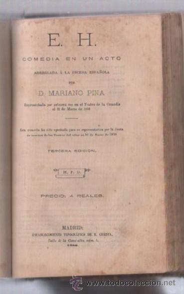 Libros de segunda mano: COMEDIAS. VARIAS OBRAS DE VARIOS AUTORES RECOGIDAS EN ESTE TOMO. IMP. JOSE RODRIGUEZ, MADRID. LEER - Foto 5 - 50930001