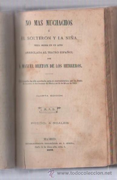 Libros de segunda mano: COMEDIAS. VARIAS OBRAS DE VARIOS AUTORES RECOGIDAS EN ESTE TOMO. IMP. JOSE RODRIGUEZ, MADRID. LEER - Foto 7 - 50930001